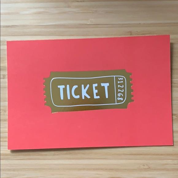 "10 kate spade ""golden ticket"" postcards"